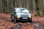 fiat panda 4x4 1.3 16v multijet test - allrad offroad geländewagen 1.3 16v multijet turbodiesel sperrdifferential kleinwagen front ansicht