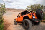 Jeep Wrangler Mojo Orange Rubicon Trail Rock Trac Shorty Beadlock Mud Terrain 3.6 Pentastar V6 Offroad Geländewagen Katzkin Leder Heck Seite