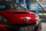 Mazda3 MPS Test - Lufthutze Motorhaube tornado rot Mazda Emblem