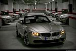 BMW Z4 sDrive35i Test - Front Ansicht vorne Frontscheinwerfer Kühlergrill Frontscheinwerfer Stoßstange