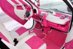 Speed-Box Smart Fortwo Pink Rosa weiß Leder Alcantara Innenraum Interieur Cockpit