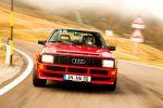 audi sport quattro test - allrad der kurze fahrbericht probefahrt fünfzylinder turbomotor sportwagen rallye straßenversion gruppe b 1983 front