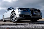 Audi A8 4,2 FSI Test - Front Ansicht vorne Kühlergrill Frontscheinwerfer Stoßstange Felge vorne