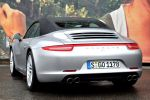 porsche 911 991 carrera 4s cabrio test - pdk allrad 3.8 sechszylinder ptm porsche traction management traktion test heck ansicht