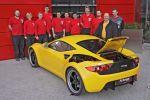 Artega SE Sport Electric Elektro Sportwagen ZE Zero Emission Lithium Ionen Polymerzellen TFT Heck Ansicht