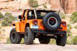 Jeep Wrangler Mojo Orange Rubicon Trail Rock Trac Shorty Beadlock Mud Terrain 3.6 Pentastar V6 Offroad Geländewagen Katzkin Leder Heck