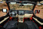 Jeep Wrangler Mojo Orange Rubicon Trail Rock Trac Shorty Beadlock Mud Terrain 3.6 Pentastar V6 Offroad Geländewagen Katzkin Leder Interieur Innenraum Cockpit