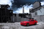 Dodge Challenger SRT Hellcat 6.2 HEMI V8 Muscle Car Street and Racing Technology Kompressoraufladung Supercharged Front Seite