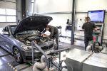 DTE Systems BMW M235i Cabrio F23 3.0 Reihensechszylinder Chiptuning Keypad Leistungssteigerung FSR 14 Pedalbox Zusatzsteuergerät Kompaktsportler Front Prüfstand