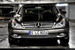 Mercedes CLS 500 Test - Front Ansicht vorne Kühlergrill Frontscheinwerfer Stoßstange Windschutzscheibe