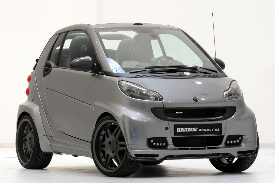 brabus ultimate style smart fortwo cabrio wird zur breiten mini flunder speed heads. Black Bedroom Furniture Sets. Home Design Ideas