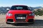 Audi RS3 Sportback Test - Front Ansicht vorne Kühlergrill Stoßstange Luftöffnungen Luftführungen Einlässe