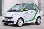 Smart Fortwo Electric Drive EV Vehicle Elektroauto Coupe Cabrio Cradle for the iPhone Smart Drive App SmartCharging Powerline Front Seite Ansicht