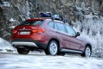 BMW X1 xDrive28i EfficientDynamics 2.0 Vierzylinder TwinPower Turbo Allrad Heck Seite Ansicht DSC DBC DTC ABS