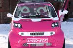 Speed-Box Smart Fortwo Pink Rosa Brabus LSD Blue Company Raid Schmidt Revo Space Front Ansicht