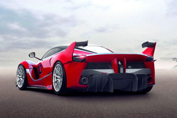 Ferrari FXX K 6.2 V12 Elektromotor Hybrid HY-KERS E-Diff F1-Trac Qualify Long Run Manual Boost Fast Charge Corse Clienti Hypercar Supersportwagen Heck