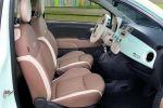 Fiat 500 Cult Kleinwagen Lattementa Grün Milchminz 0.9 TwinAir Turbo Dualogic TFT Display Interieur Innenraum Cockpit Sitze