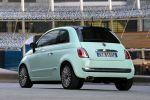 Fiat 500 Cult Kleinwagen Lattementa Grün Milchminz 0.9 TwinAir Turbo Dualogic TFT Display Heck Seite