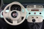Fiat 500 Cult Kleinwagen Lattementa Grün Milchminz 0.9 TwinAir Turbo Dualogic TFT Display Interieur Innenraum Cockpit