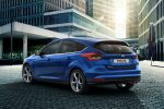 Ford Focus Facelift 2014 EcoBoost Turbo Benziner ECOnetic Ti-VCT TDCi Diesel Dreizylinder Ford SNYC 2 PowerShift MyKey Einparkassistent Cross Traffic Alert Pull out Assist Active City Stop Notbremsassistent Pre Colission ACC Adaptive Cruise Control FA Forward Alert Distance Alert sparsam Heck Seite