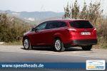 Ford Focus Turnier 1.0 EcoBoost Test - Dreizylinder Kombi Heck Seite Kofferraumklappe Ansicht