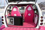 Speed-Box Smart Fortwo Pink Rosa weiß Leder Alcantara Sound Musik Anlage Subwoofer Kofferraum