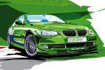Alpina B3 GT3 Biturbo BMW 3er 3.0 Reihensechszylinder Switch Tronic Classic Front Seite Ansicht Sketch