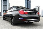 G-Power BMW 760i F01 6.0 V12 Biturbo Leistungssteigerung Tuning Rad Felge Hurricane RR Heck Seite