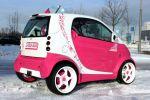 Speed-Box Smart Fortwo Pink Rosa Brabus LSD Blue Company Raid Schmidt Revo Space Heck Seite Ansicht