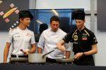 Pirelli Wettkochen Jenson Button Romain Grosjean Formel 1 Motorsport Racing