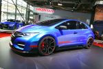 Honda Civic Type R 2015 Prototyp Kompaktsportler Street Racer 2.0 i-VTEC Turbo Benzinmotor Steer Axis Hot Hatch Front Seite