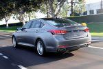 Hyundai Genesis Limousine 2014 Obere Mittelklasse V8 V6 Fluidic Sculpture Modern Premium Luxus HTRAC Allrad Smartphone Fahrassistenzsysteme Infotainment Heck