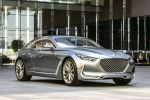 Hyundai Vision G Coupe Concept V8 Oberklasse Luxusklasse Remote Wheel Touchpad Front Seite