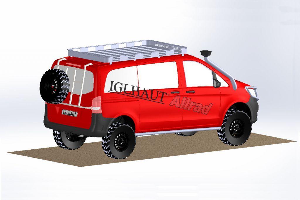 iglhaut mercedes v klasse 4x4 kleinbus wird zum extrem offroader speed heads. Black Bedroom Furniture Sets. Home Design Ideas