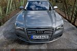 Audi A8 4,2 FSI Test - Front Ansicht vorne Kühlergrill Frontscheinwerfer Stoßstange Motorhaube