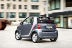 Smart Fortwo Pearlgrey Cabrio MHD Micro Hybrid Drive Tridion Softouch Passion Heck Seite Ansicht