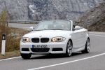 BMW 1er Cabrio Facelift Modelljahr 2011 Front Ansicht Air Curtains Efficient Dynamics Connected Drive 135i Reihensechszylinder Twin Power Turbo 118i 120i 125i 118d 120d 123d