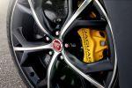 Jaguar F-Type R Coupé V8 Kompressor Launch Control Sportwagen Dynamik EAD Differential Differenzial Torque Vectoring by Braking Adaptive Dynamics SportShift DSC Rad Felge Bremse Bremsscheibe gelb