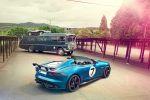 Jaguar Project 7 F-Type D-Type 5.0 V8 Sportwagen Speedster Roadster Goodwood Festival of Speed Heck Seite