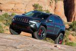 Jeep Cherokee Dakar Concept Prototyp Offroad Geländewagen 4x4 Allrad Mopar Jeep Performance Parts Lift Kit BFGoodrich Mud Terrain Jeep Cargo Management System JCMS Front Seite
