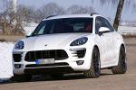 Kaege Porsche Macan S Diesel Kompakt SUV Tuning Leistungssteigerung BBS CH-R II Felge Rad Fahrwerk Active Sound System Aktor Front