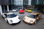 Lamborghini-Supersportwagen wie der 350 GT, der Miura, der Countach und der Diablo begleiteten den Murciélago SV.