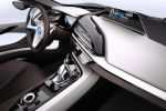 BMW i8 Concept Sportwagen Plug In Hybrid EfficientDynamics Elektromotor Dreizylinder Benziner Life Drive Streamflow Eco Pro Connectivity Smartphone Mobile App Last Mile Navigation Intermodale Routenplanung Next Premium Interieur Innenraum Cockpit