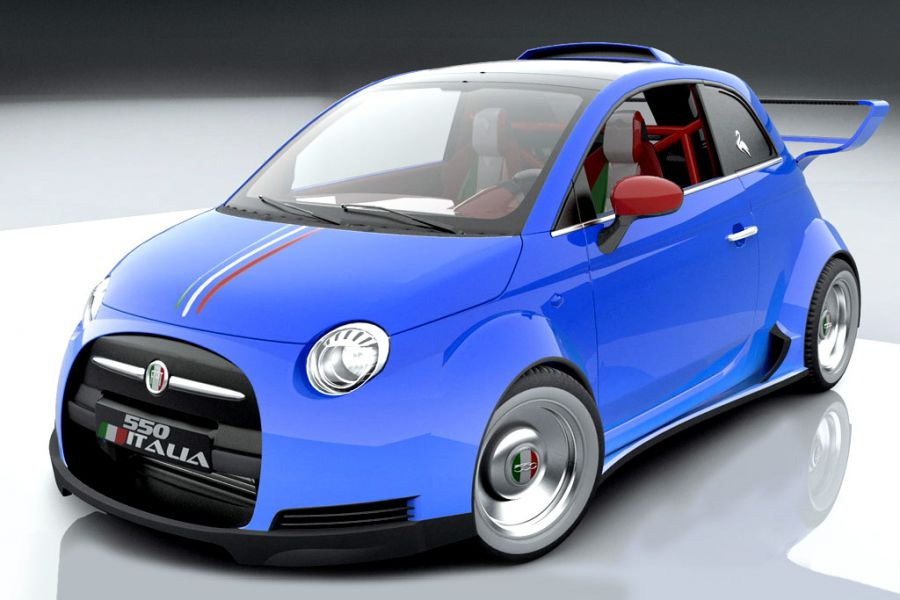 lazzarini fiat 550 italia ein fiat 500 mit v8 ferrari motor speed heads. Black Bedroom Furniture Sets. Home Design Ideas