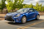 Lexus RC 200t F Sport Vierzylinder Twin Scroll Turbolader Direktschaltautomatik Sportcoupe Drive Mode Select Torsen Differenzial AVS adaptiv variables Fahrwerk Touchpad Front Seite