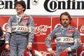 Mai 1992: Ellen Lohr kann es kaum fassen, Keke Rosberg geht es ähnlich...