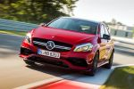 Mercedes-AMG A 45 Kompaktsportler 2016 Performance 2.0 Vierzylinder Turbo 4MATIC Allrad AMG Speedshift DCT 7G Doppelkupplungsgetriebe Dynamic Select Sport Race Comfort Comand Online WLAN Internet MirrorLink Smartphone App Collision Prevention Assist Plus Attention Assist Front