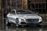 Mercedes-Benz Concept S-Klasse Coupe Studie Konzept V8 Biturbo 6DVision Road Surface Scan Magic Body Control Central Command Unit CVD Black Diamond Gracenote MoodGrid Front