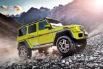 Mercedes-Benz G 500 4x4 Geländewagen Offroader 4.0 V8 Biturbo Beadlock Felgen Portalachsen Portalgetriebe Bodenfreiheit Wattiefe Rampenwinkel Böschungswinkel Steigfähigkeit Designo Dinamica Front Seite