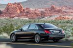 Mercedes-Benz S-Klasse 2013 W222 Limousine V6 V8 Hybrid CDI BlueTec 7G Tronic Plus Road Surface Scan Air Balance Energizing Heck Seite